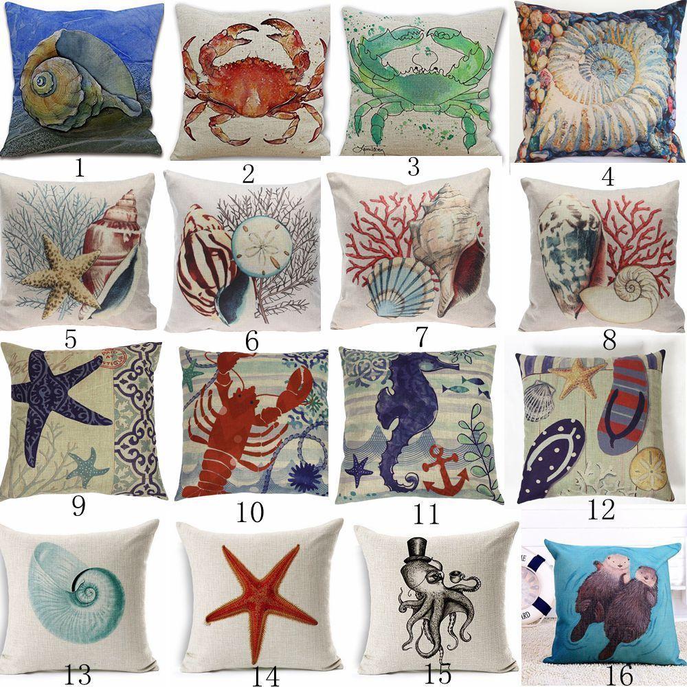 3 99aud Decorative Throw Pillow Cover Beach Ocean Seaside Coastal Pillowcase Home Decor Ebay Garden
