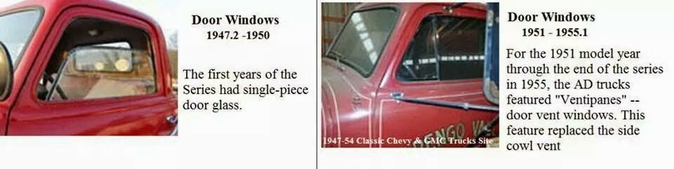 Identify A Chevrolet Or Gmc Advanced Design Pickup Truck Year Range 1947 1955 By Vent Or No Vent Glass Chevrolet Sapo Sapo