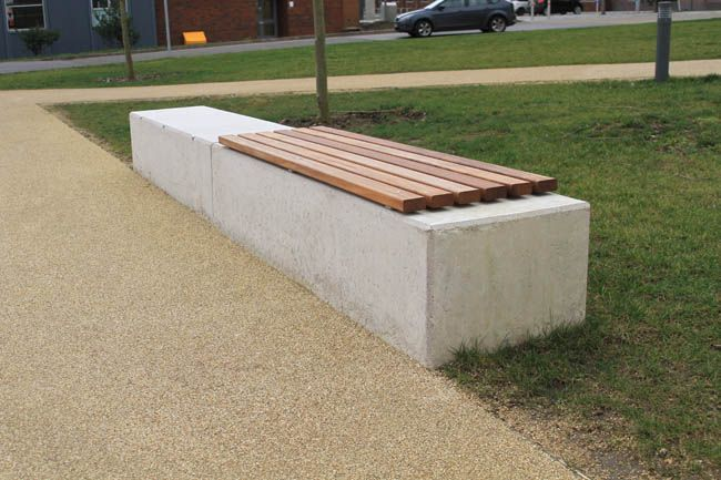 Image Result For Concrete Wall Wood Seat Top Concrete Bench Concrete Wood Concrete Wood Bench