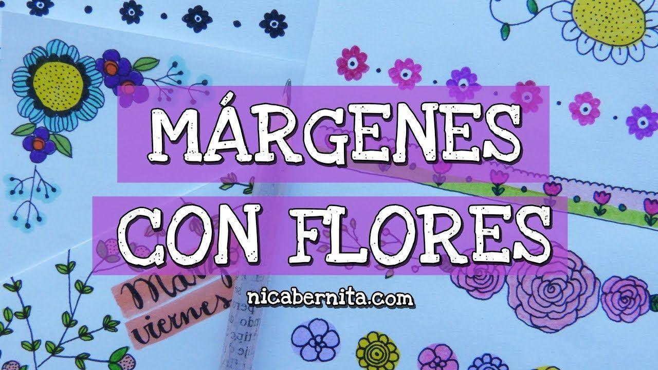 Ideas De MÁrgenes Para Decorar Cuadernos Y Libretas: MÁRGENES PARA CUADERNOS Y BORDES PARA CARTAS Con Flores