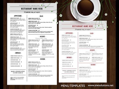 Food Menu Template  Id  Menu Template Menu Templates And Food