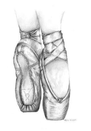 Zapatillas de puntas | dibujos a lapiz | Pinterest | Zapatillas ...