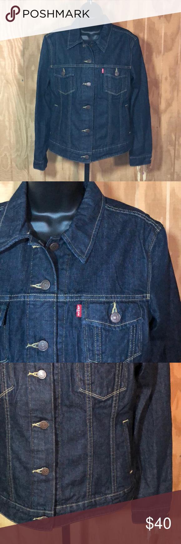 6568fc4ee22a Levi Dark Wash Denim Jean Jacket Women s Medium Levi dark was denim jacket. Levi s  Jackets   Coats Jean Jackets