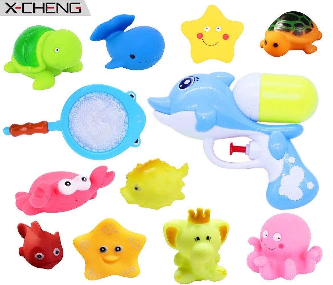 Amazon.com: X-CHENG Baby Bathtub Toys-Bath Squirt Toys Non-Toxic ...