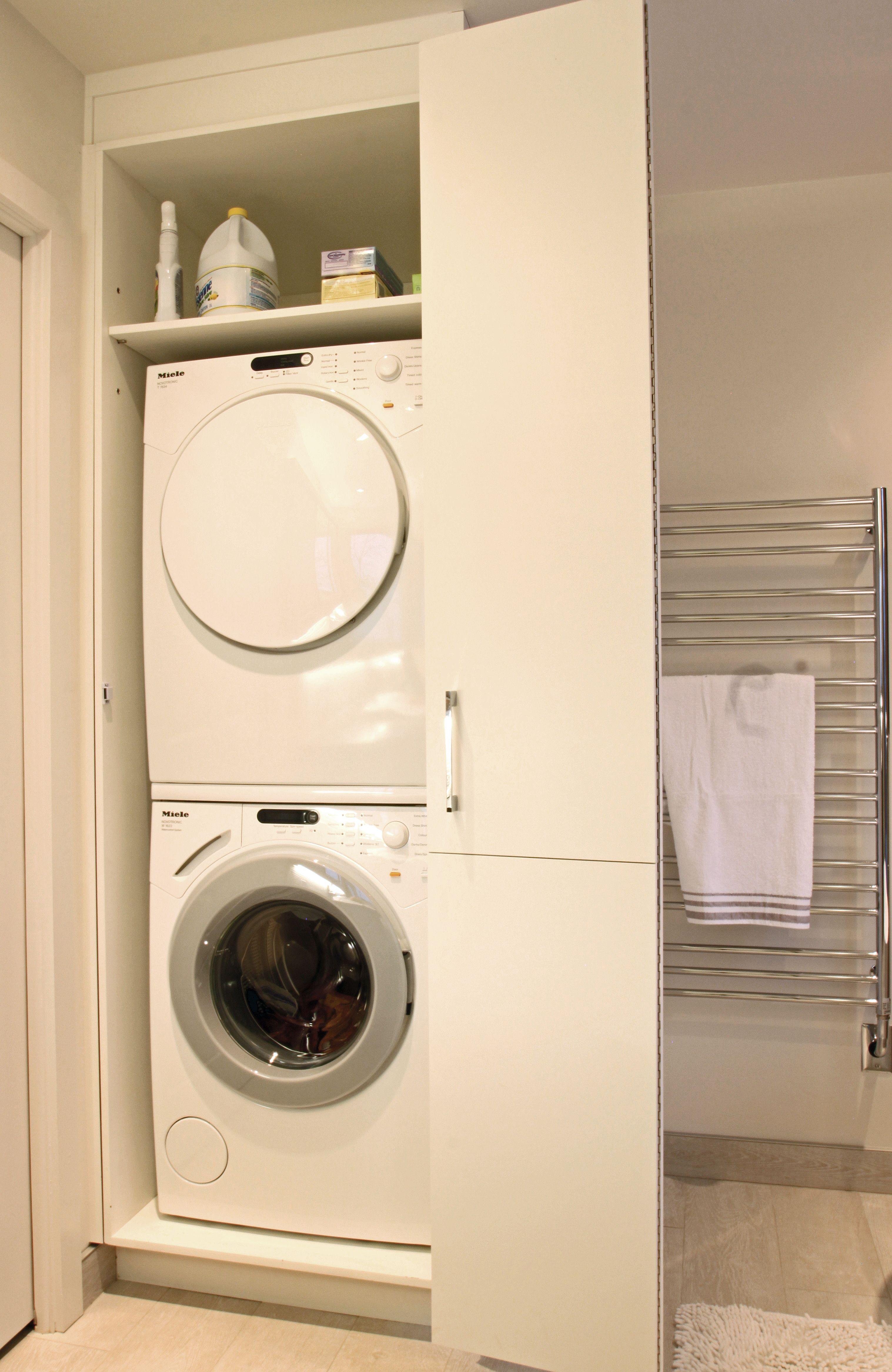 Rangement Laveuse Secheuse Salle De Bain Building A House Home Appliances Washer And Dryer