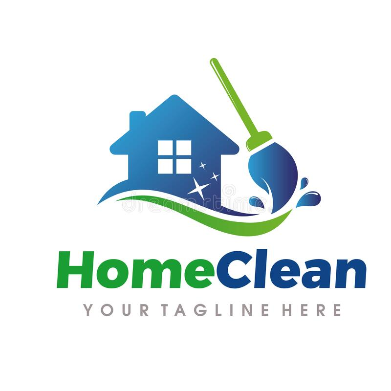 Home Cleaning And Cleaning Services Logo Home Cleaning Logo Cleaning Services Logo Stock Illustration Cleaning Service Logo Service Logo Cleaning Logo