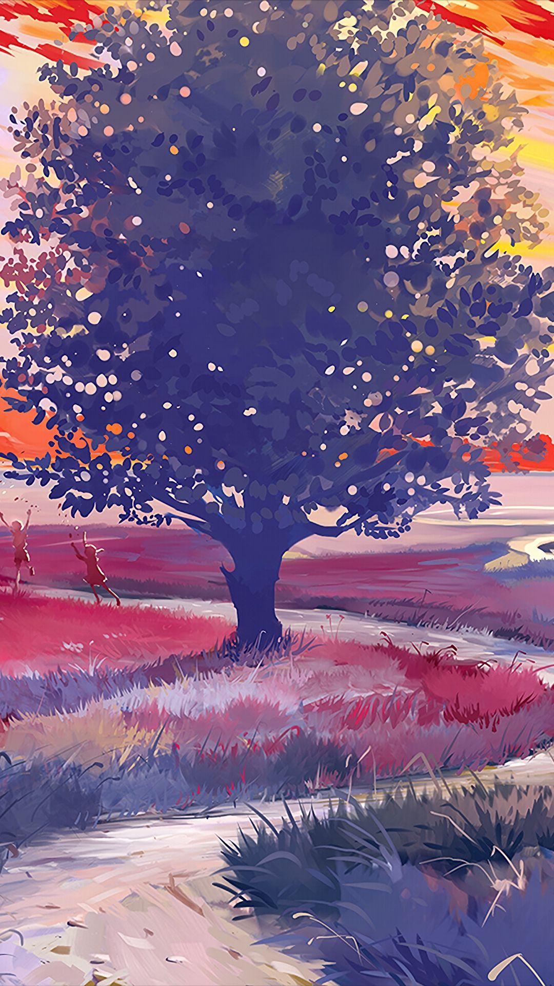 Tap to download #path #art #tree #art #wallpaper #lockscreen #mobile