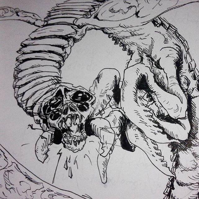 Flyer monster #inktober #ink #blackink #monster #fantasy #fantasyart #art #imagination #insect