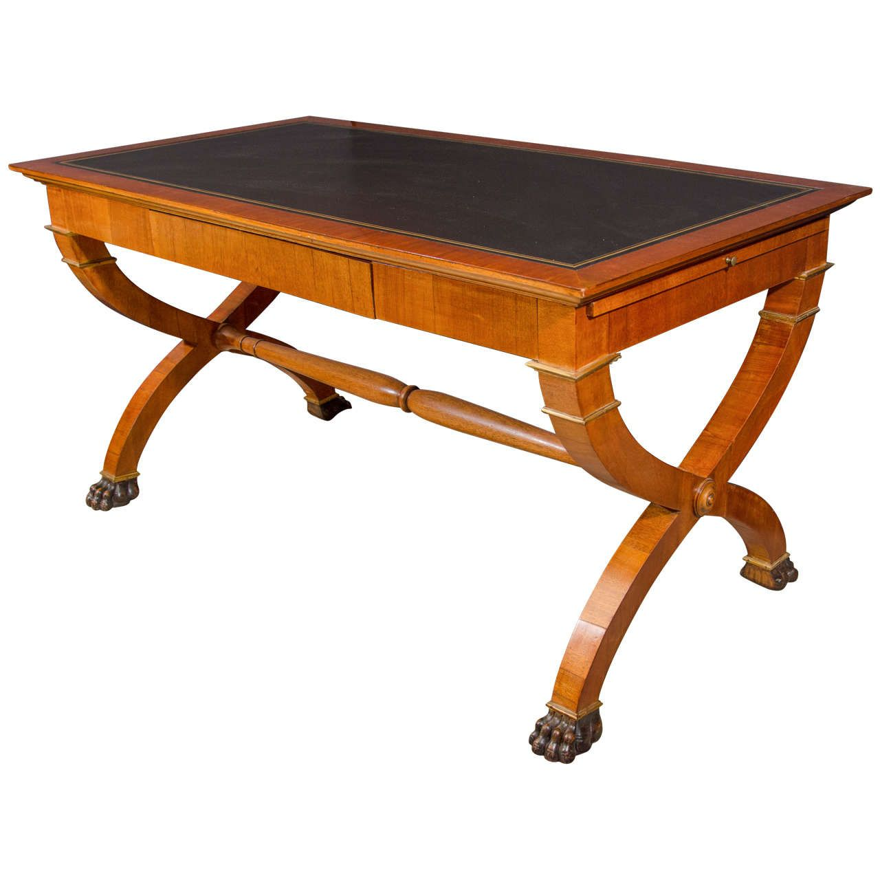 Unusual french empire writing table from a unique collection of view this item and discover similar desks and writing tables for sale at a fine french empire charles x leather top writing table with drawer and two geotapseo Images