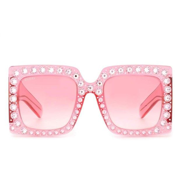 Gucci Oversized square sunglasses ($465) ❤ liked on Polyvore ...