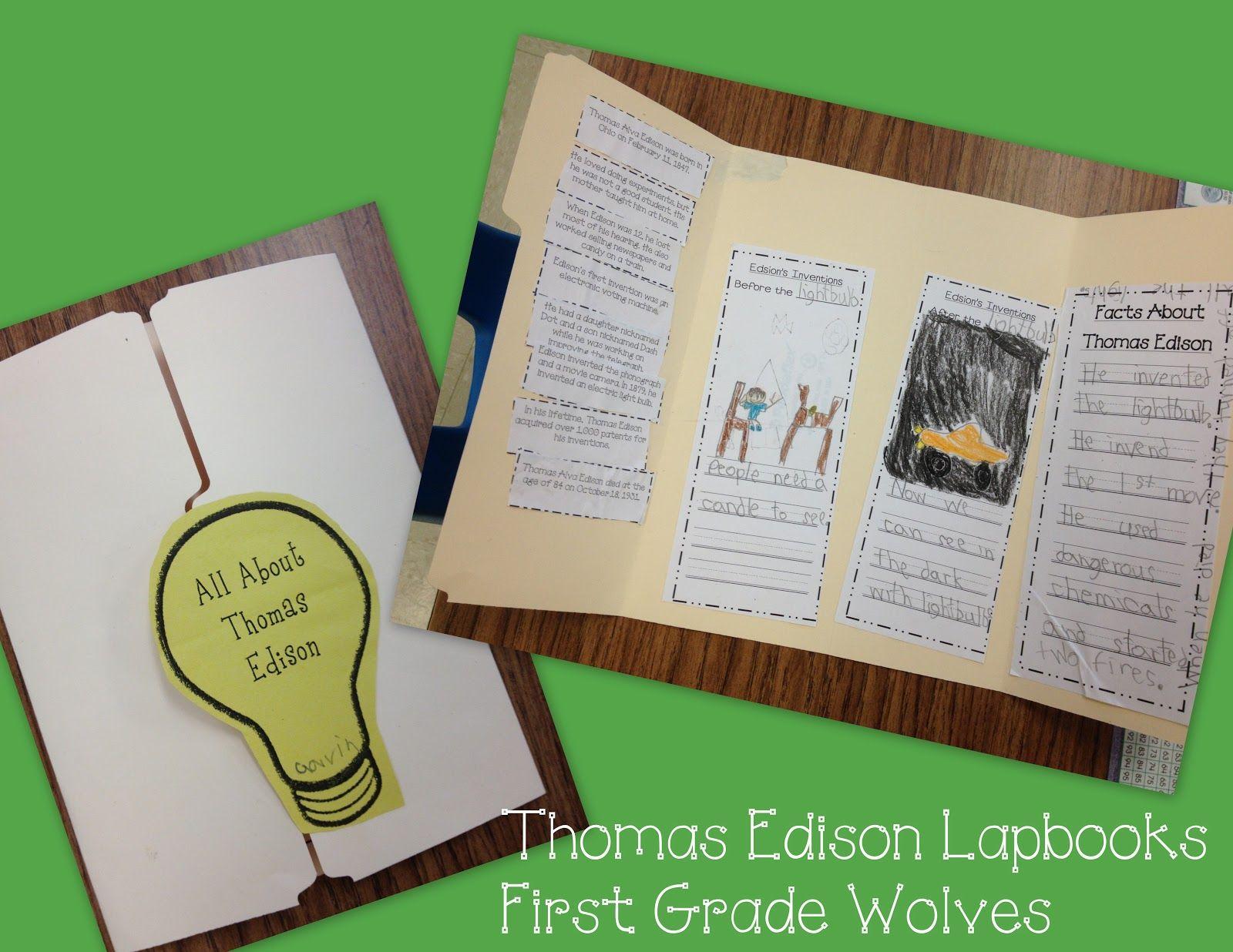 Thomas Edison Lapbook Freebies
