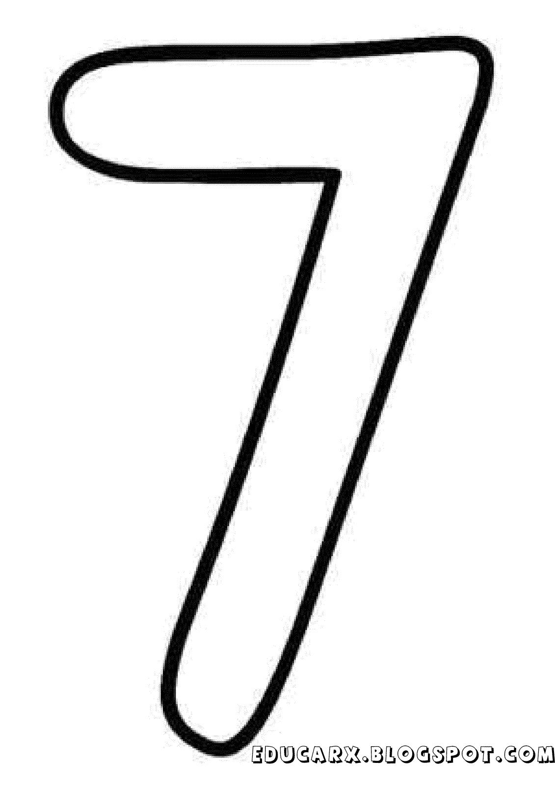Molde Do Numero 7 Letras Numbers Lettering E Symbols