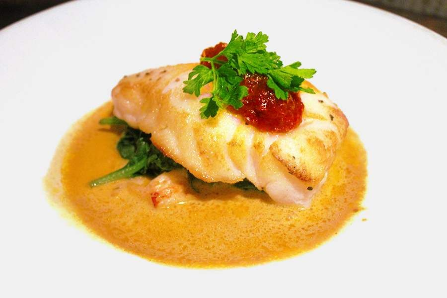 Sea bass in a curry sauce fine dining google search as for Fine dining food