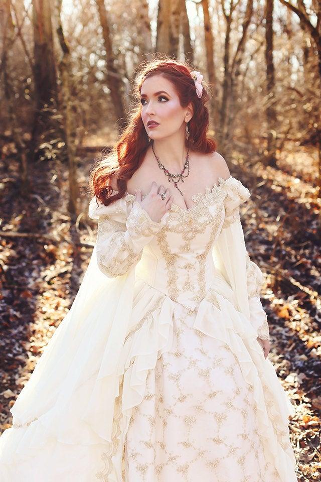 Sleeping Beauty Princess Medieval Fantasy Gown Custom