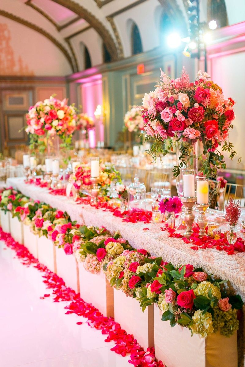 Exquisite Ballroom Head Table Photography Ryan Phillips Photography