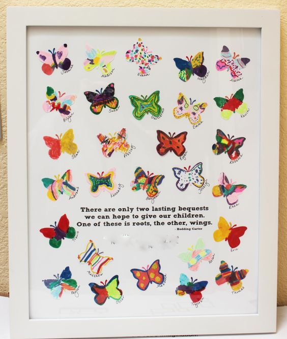 Butterfly Art Projects Pinterest