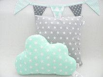 Wolke kissen sterne mint kinderzimmer neugestaltung - Babyzimmer deko mint ...