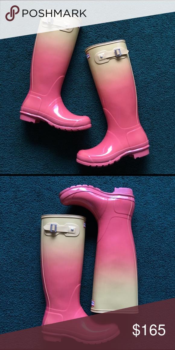peach rain boots