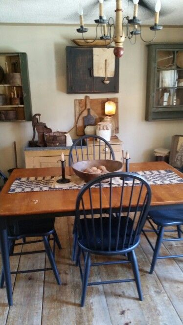 Primitive Dining Room  Dining Room Ideas  Pinterest  Primitive Gorgeous Primitive Dining Room Sets Inspiration