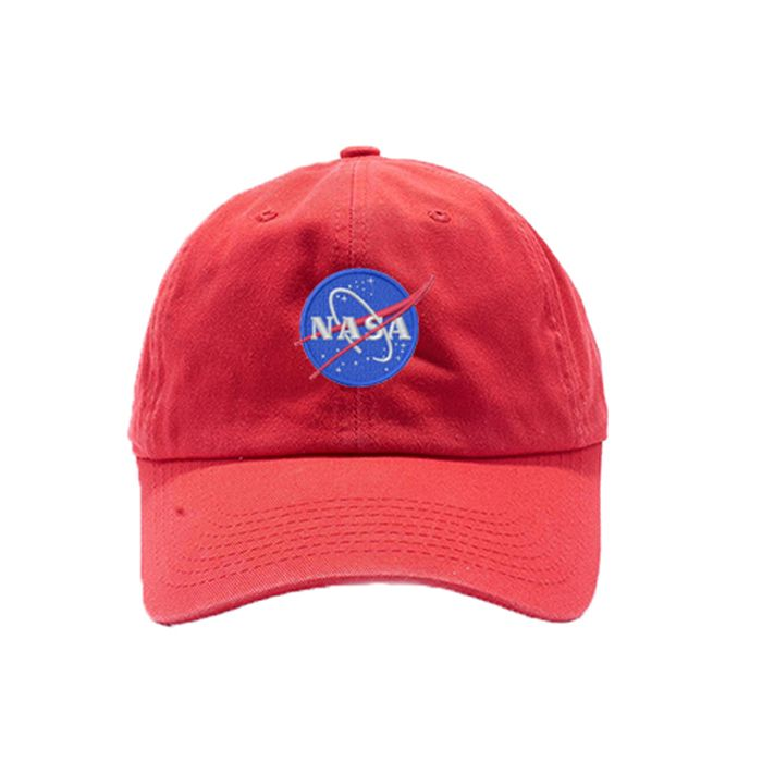 86b2e1fa955 NASA Insignia Washed Dye Dad Hat   Custom Embroidered Hats   Embroidery Baseball  Cap   Red Dad Cap   FREE SHIPPING