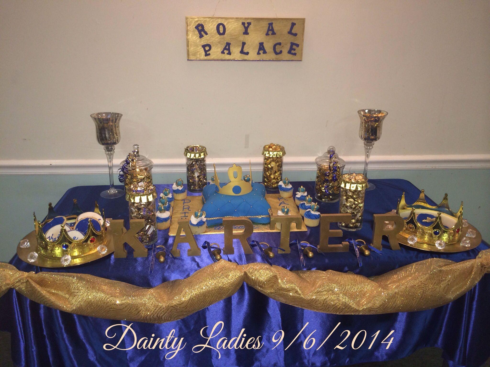 royal blue u0026 gold prince candy buffet prince baby showersbaby