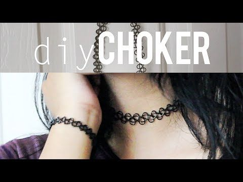 DIY Tattoo Choker - YouTube
