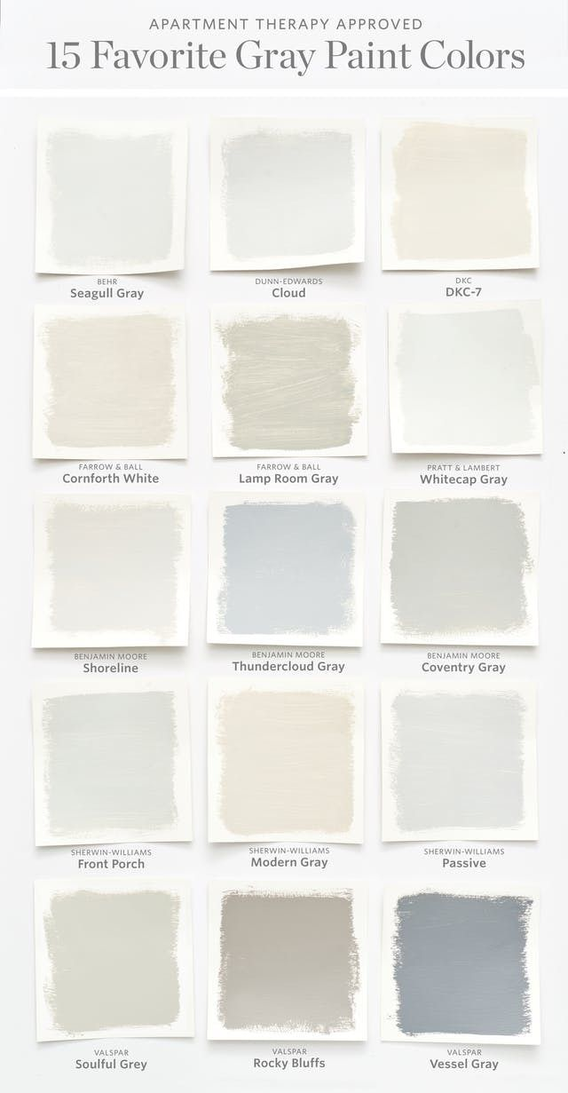 Color Cheat Sheet The Best Gray Paint Colors When Choosing