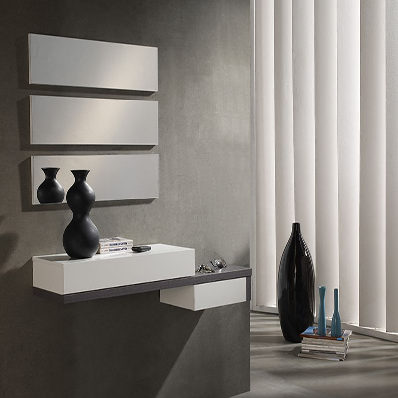 Meuble D 39 Entr E Blanc Et Gris Moderne Tryo Design Pinterest Hall And Shelves