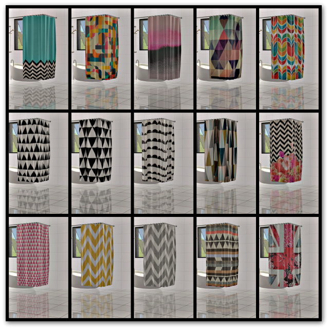 Sims 2 Creations By Tara Shower Curtains Pt I