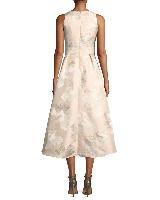 46e78a48d8 Shoshanna Midnight Preuss High-Low Jacquard Gown