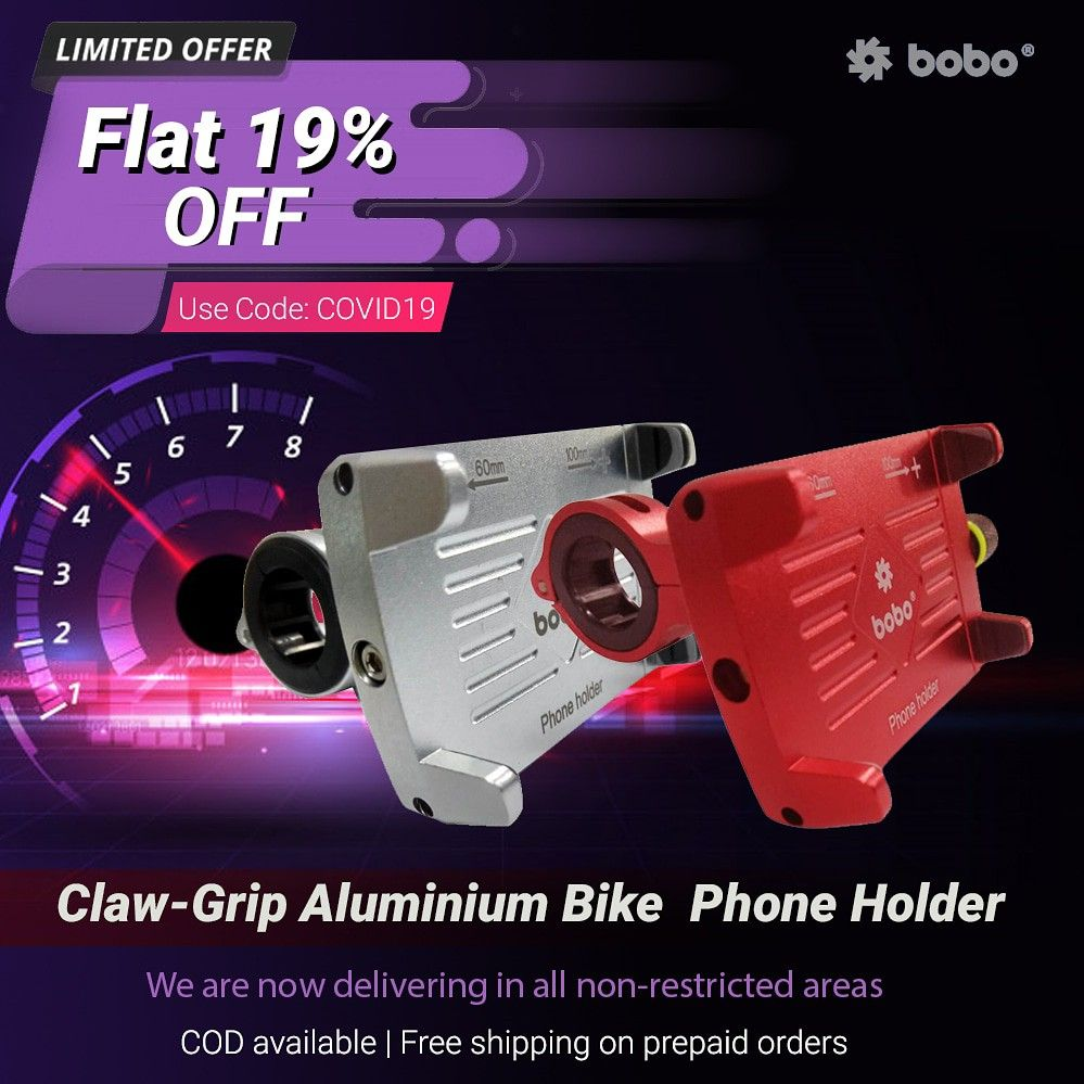 BOBO Claw-Grip Aluminum Waterproof Bike Phone Holder. ➖➖➖➖➖➖➖➖➖➖➖➖ Key Features ✔️ Claw-Grip security. ✔️ Always connected. ✔️ Always Secured. ✔️ All tolls and spare parts included. ✔️ We provide 1 year warranty. ✔️ Ideal for Maps and GPS Navigation. ➖➖➖➖➖➖➖➖➖➖➖➖ . . . . #bikes #bikers #bikerider #riders #superbikes #biking #bikingendut #bikelife #bike #bikecare #bikeaccessories #biker #bikersfamily #bikepacking #bikelovers #loveforbike #tech #biketech #gears #gears #superbikesinindia