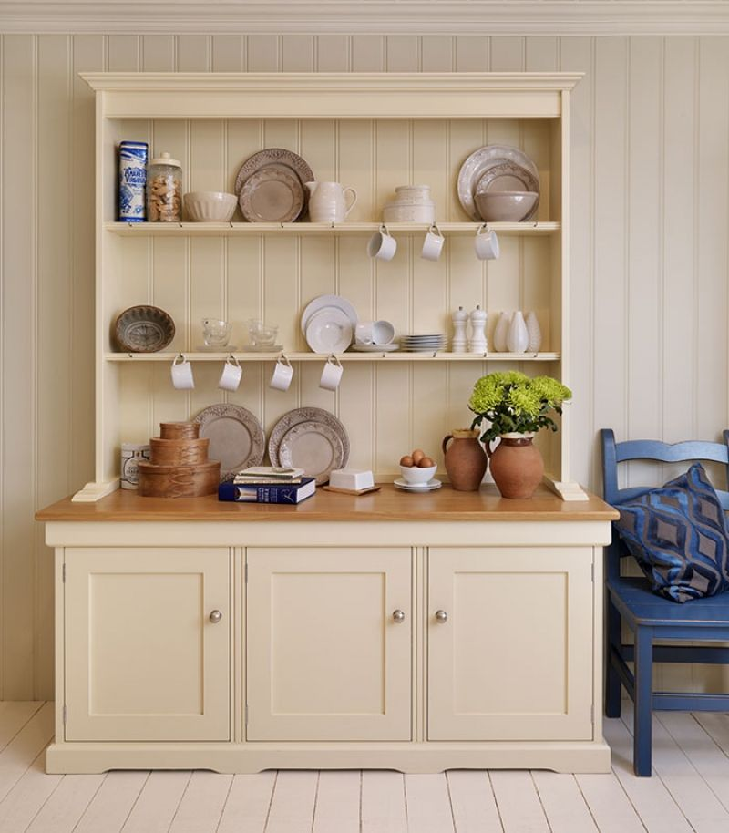Kitchen Dresser yellow kitchen dresser a dresser provides you with a lot of storage and doubles as Free Standing Painted Kitchen Dressers Kitchen Lardersblue Cupboard In Basement