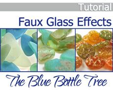 Faux Glass Effects Tutorial for Polymer Clay