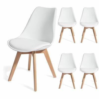 Brekka Lot De 4 Chaises Design Contemporain Nordique Et