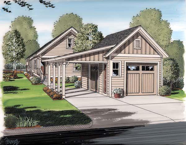 Traditional Style 2 Car Garage Plan Number 30505 Craftsman Style House Plans Craftsman House Plans Carport Garage