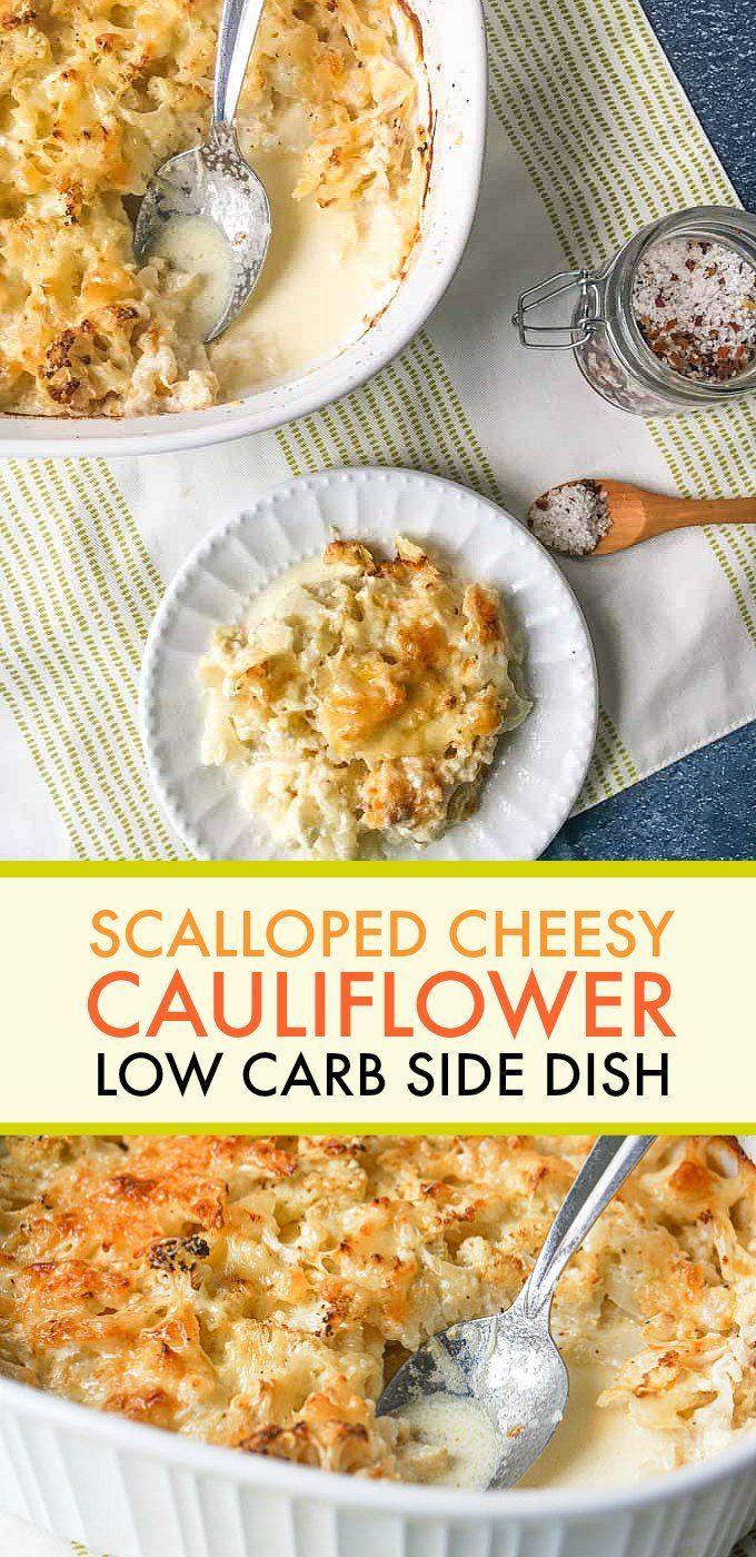 Low Carb Cheesy Cauliflower Casserole - a great keto scalloped potato substitute!