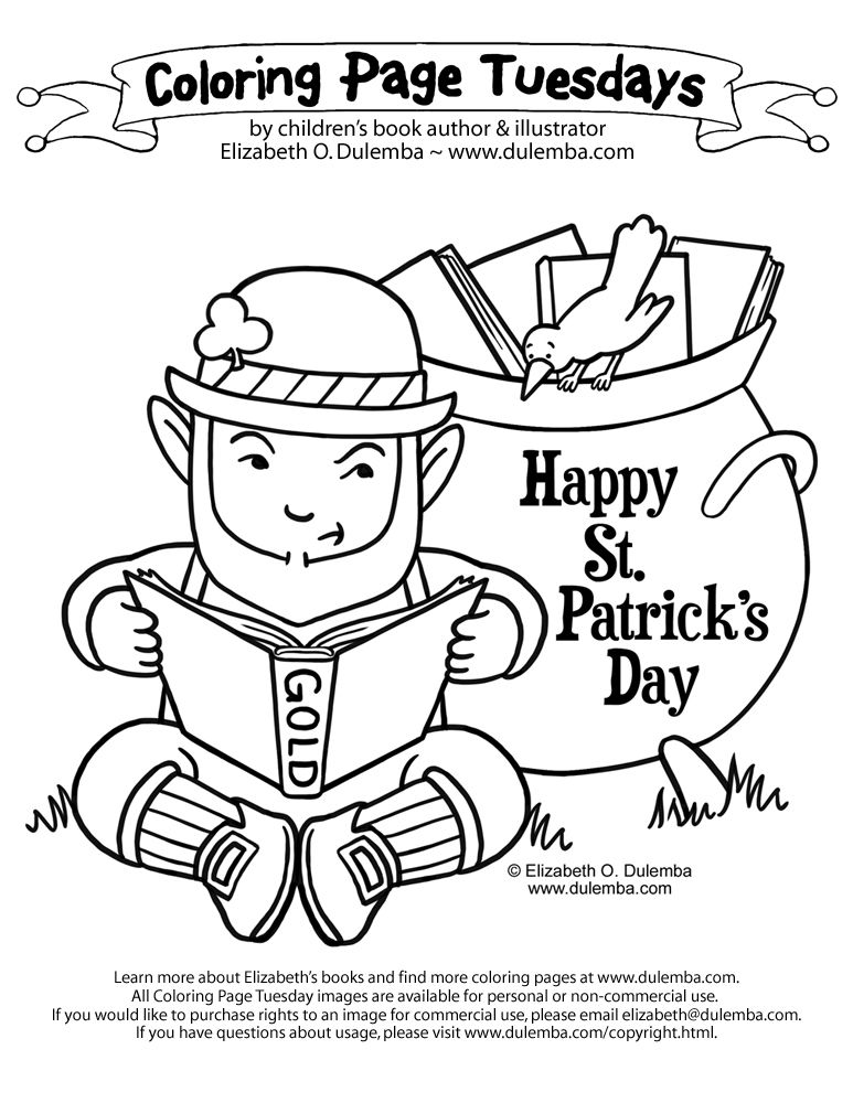Dulemba Coloring Page Tuesdays St Patty S 2011 Dog Coloring