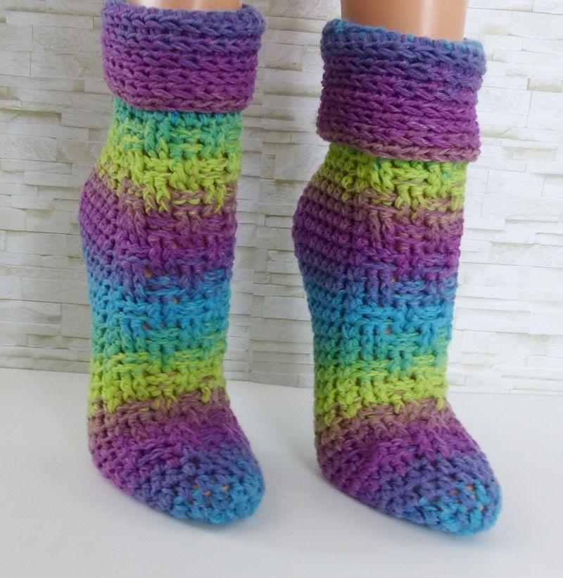 Tolle Dicke Socken Schnell Zu Häkeln Ohne Komplizierte Ferse