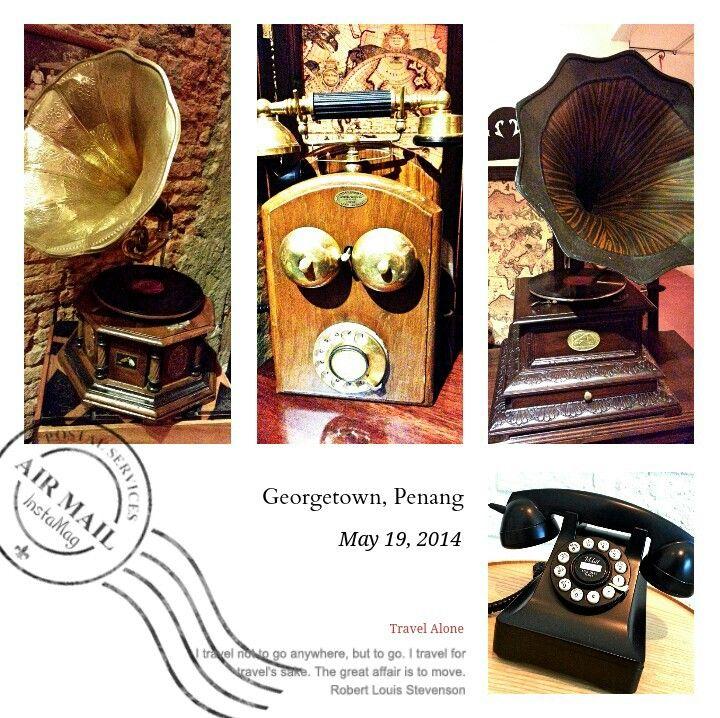Oldies are best -- telephone & gramophone. #oldies #antique #telephone #gramophone #telecommunication #entertainment #penang #equipments #instruments
