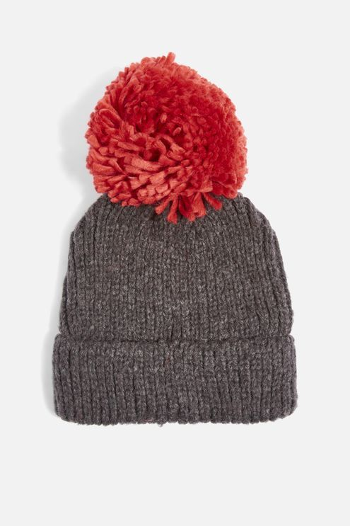 647662f1c Big Knit Pom Beanie Hat | a/w 2017 womens | Beanie hats, Topshop ...