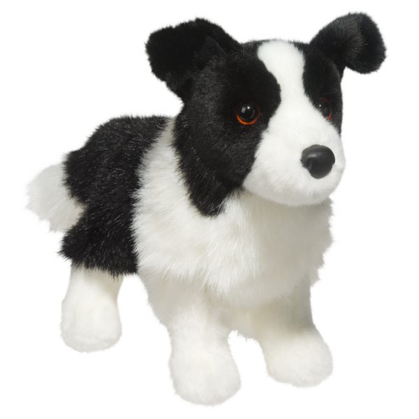 10 Zippy The Stuffed Border Collie Dog Is Just Adorable Realistic Black And White Coloring This Plush Puppy Is Ultra Plush Dog Dog Cuddles Dog Stuffed Animal
