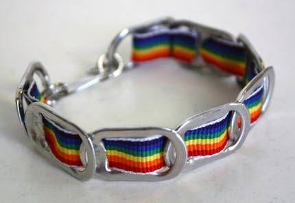 Rainbow Poptab Bracelet
