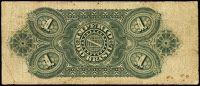REVERSO; Valor facial: 1000 réis; Ano de emissão: 1885; Órgão emissor: Tesouro Nacional; Empresa impressora: American Bank Note Company; 6ª Estampa
