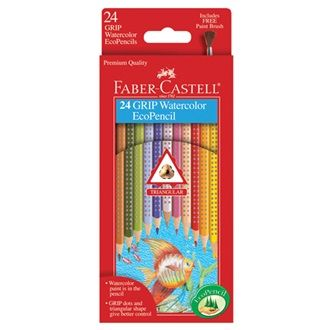 24 Grip Watercolor Ecopencils 9121224 Faber Castell Pencil