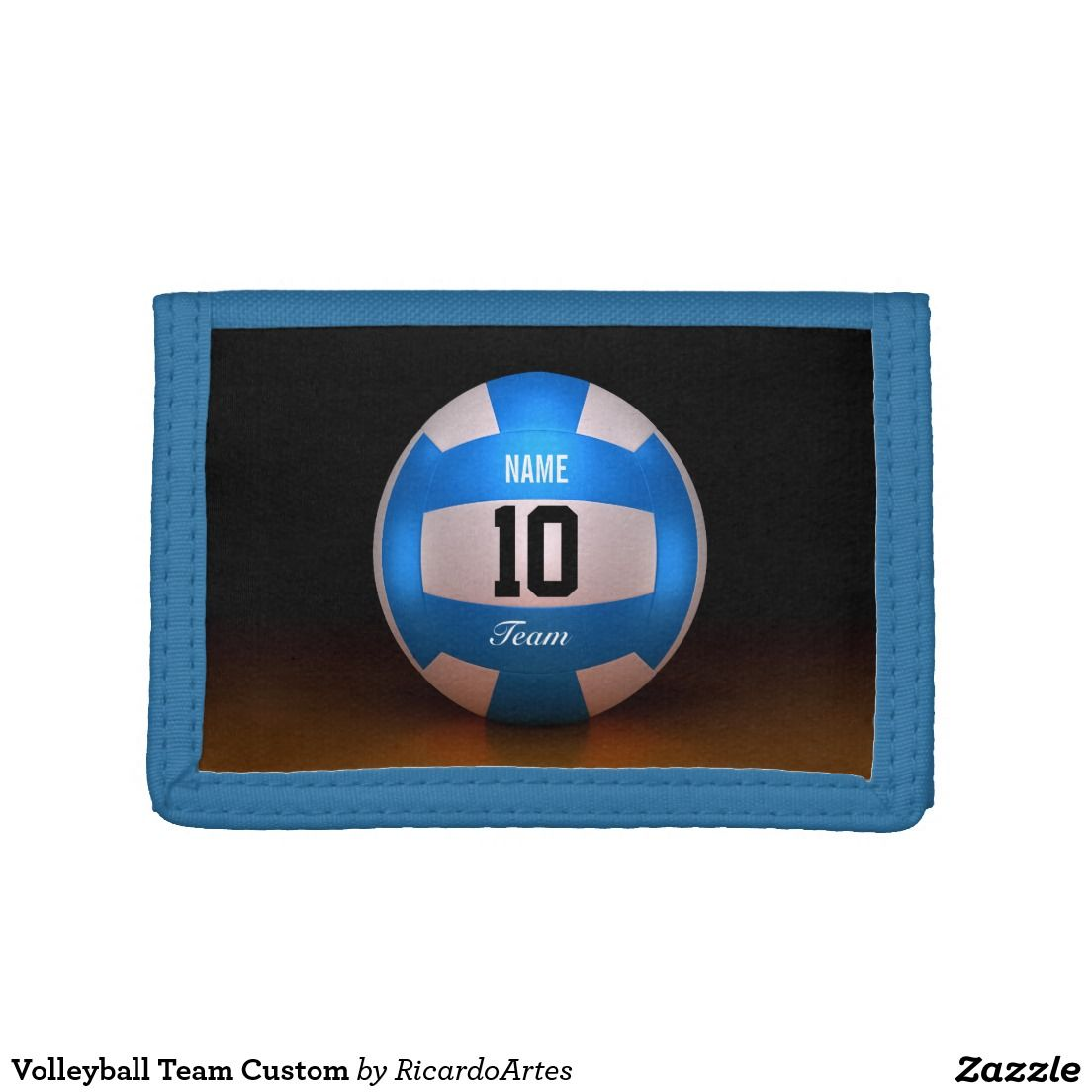Volleyball Team Custom Trifold Wallet Zazzle Com Volleyball Team Volleyball Designs Trifold Wallet