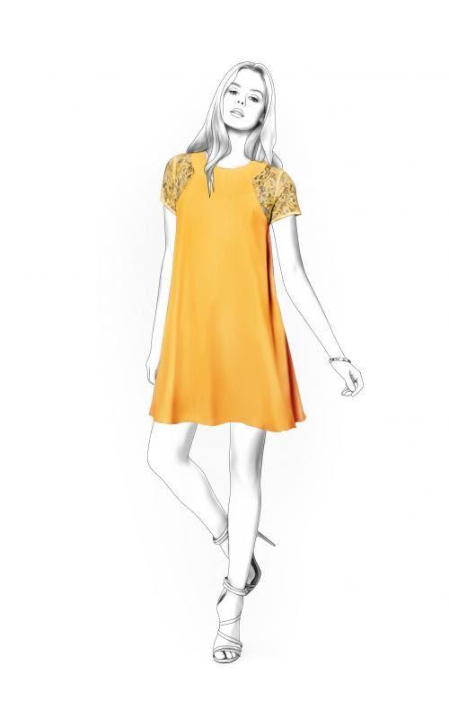 Lekala 4428 Dress Sewing Pattern PDF Download Free by TipTopFit ...
