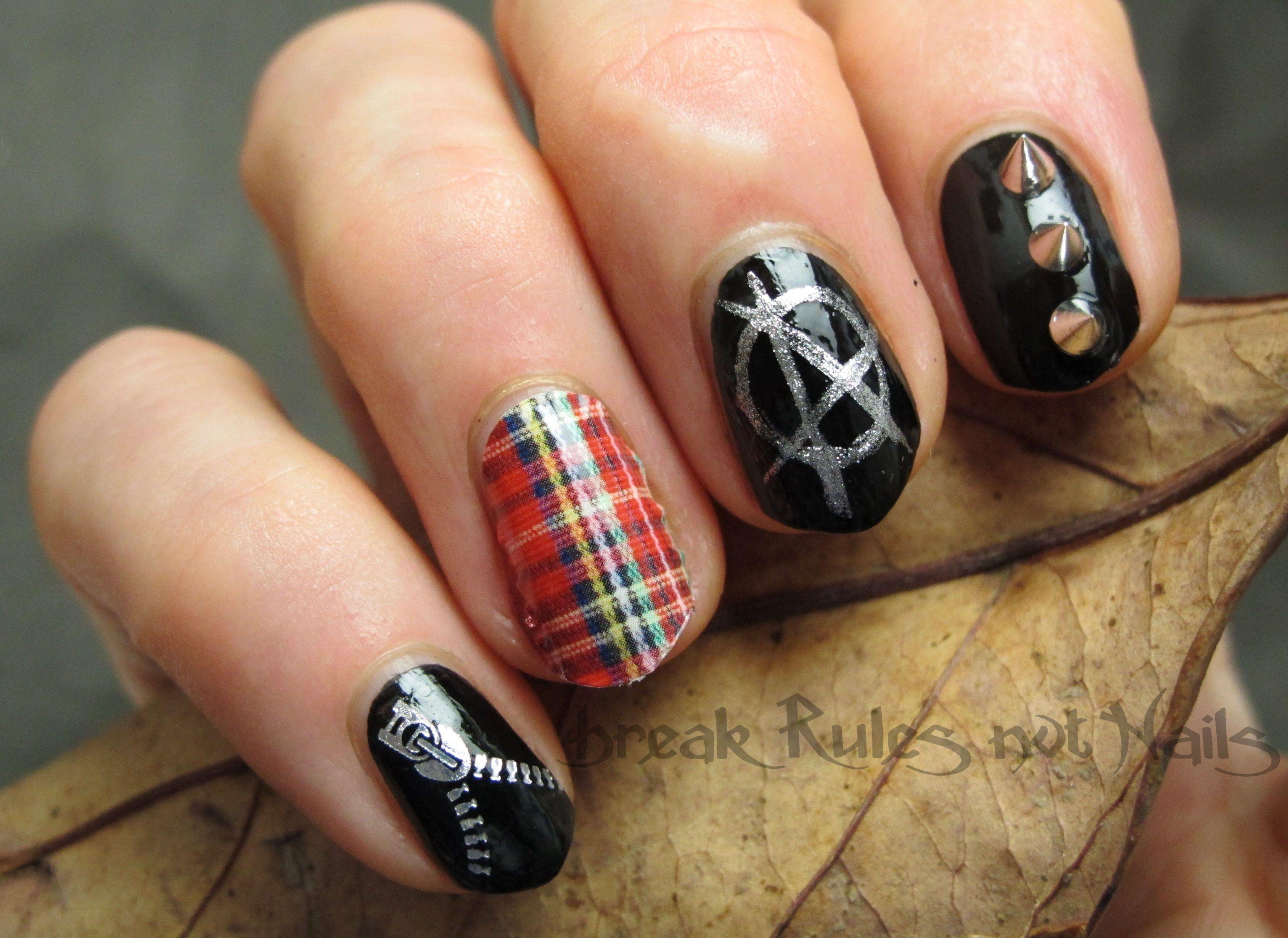 Punk A Licious Nails Pinterest Punk Nails And Fabulous Nails