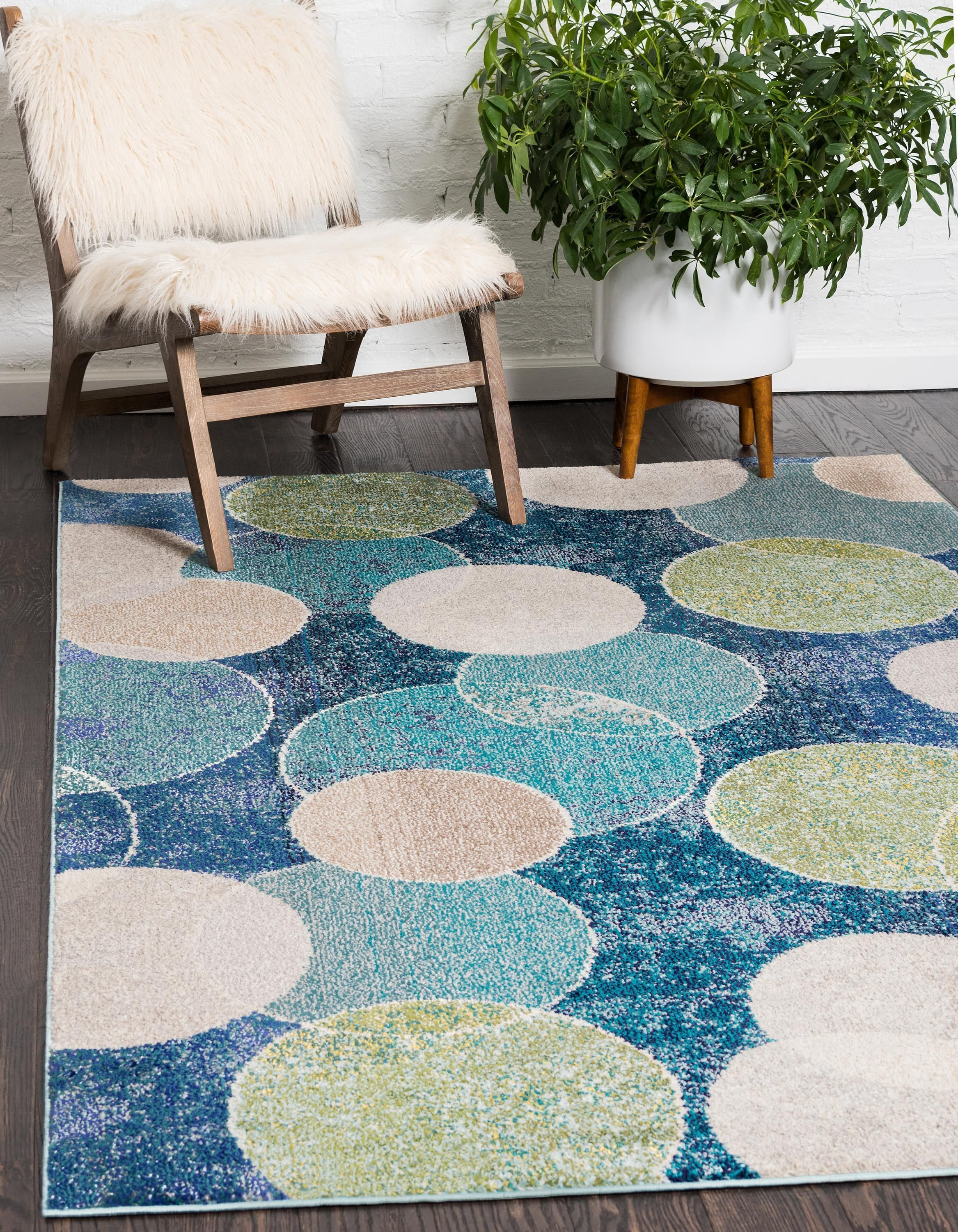 Otto Circle Area Rug In 2020 Area Rugs Unique Loom Boho Living Room