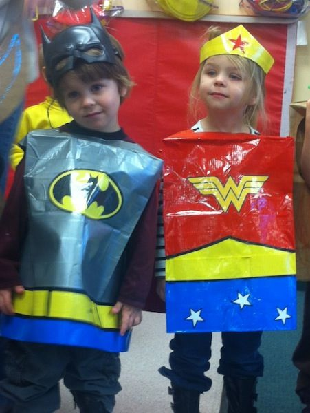 duct tape costumes for kids too superheroes duct tape seem to go together well