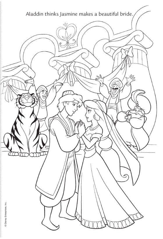 Jasmine S Wedding Disney Coloring Pages Wedding Drawing Wedding Coloring Pages